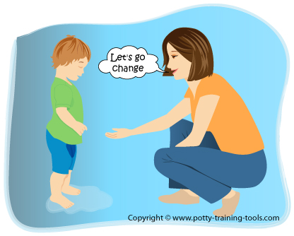 responding to potty training accidents