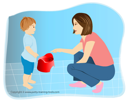 prerating my child before starting potty training